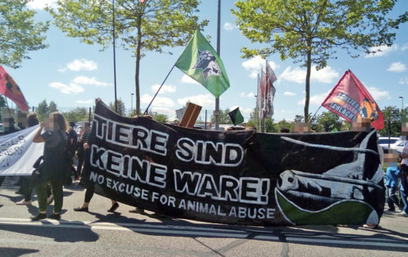 """Tiere sind keine Ware – no excuse for animal abuse"""