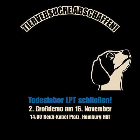 Großdemonstration gegen Tierversuchslabor LPT in Hamburg