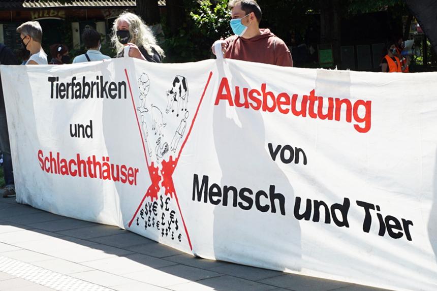 Aktionstag des Bündnisses für gesellschaftliche Tierbefreiung