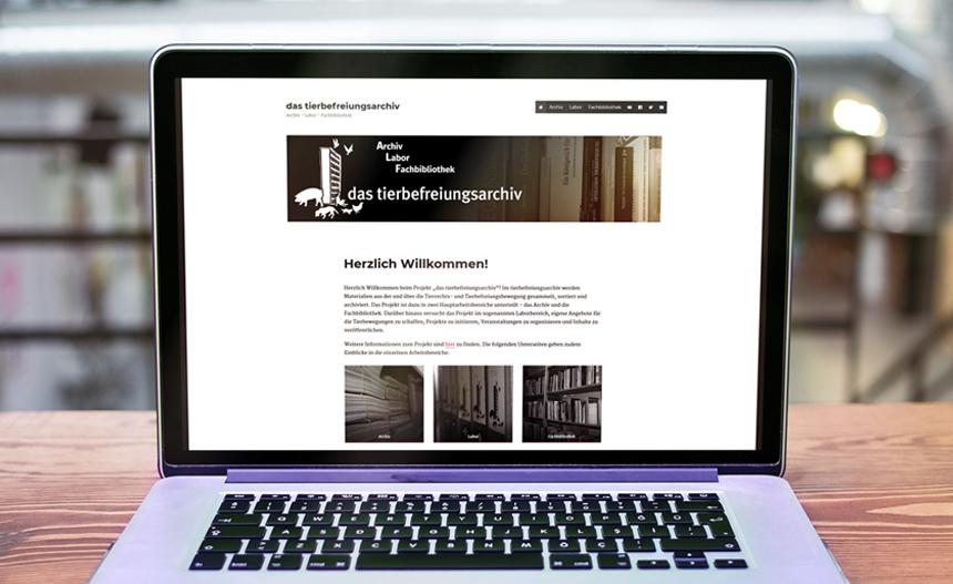 Neue Webseite für das tierbefreiungsarchiv